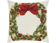 shop Holiday Wreath 18x18 Pillow