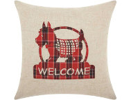 shop Welcome Scottie 17x17 Pillow