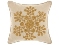 Gold Snowflake 12x12 Pillow