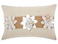 Silver Florals 18x12 Pillow