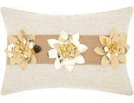 Golden Florals 18x12 Pillow