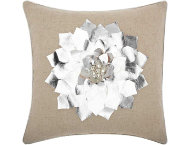 Silver Flower 16x16 Pillow