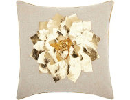 Golden Flower 16x16 Pillow