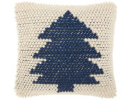 Navy Xmas Tree 20x20 Pillow