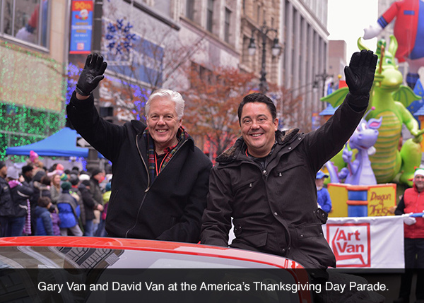 Gary Van and David Van at the America's Thanksgiving Day Parade.