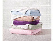 Sherpa Fleece Q Blanket-Rose