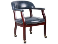 Harper Blue Chair w  Casters
