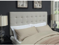 Biscuit Linen Queen Headboard