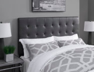 Biscuit Steel King Headboard