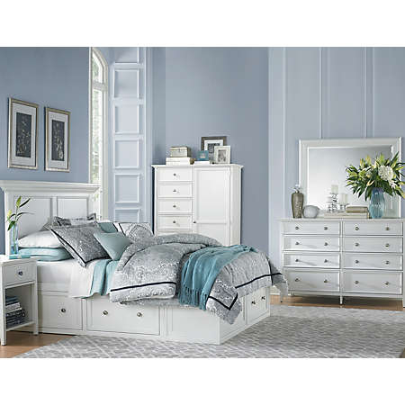 Abbott White Collection | Master Bedroom | Bedrooms | Art Van ...