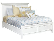 Abbott White King Panel Bed