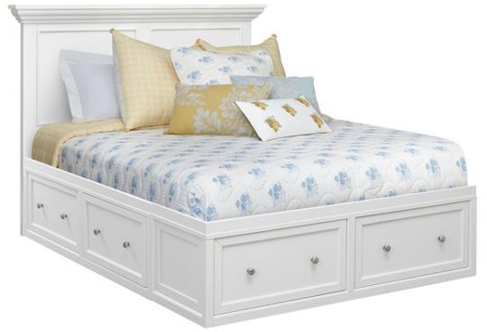 . Abbott White Queen Storage Bed   Art Van Furniture