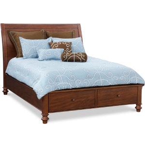 Avila Queen Sleigh Storage Bed