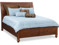 Avila Queen Sleigh Storage Bed