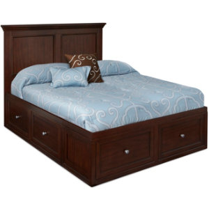 Full Panel Bed With 2 Storage