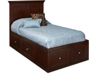 Twin Panel Bed With 2 Storage