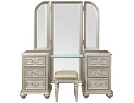 Vanity,Stool  Tri View Mirror