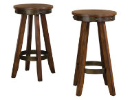Pair of Carson Forge Barstools