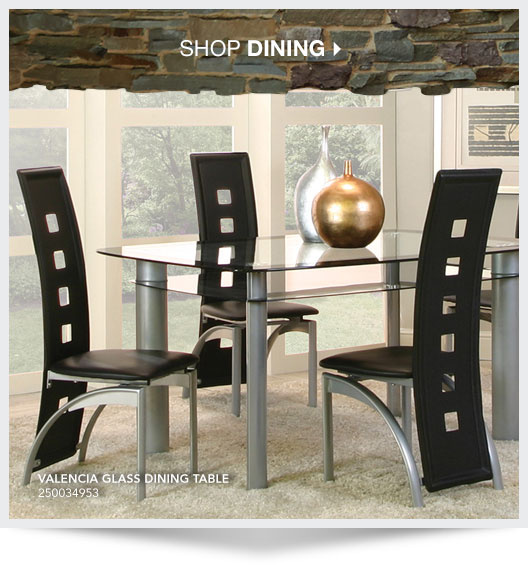 Shop Dining. Valencia Glass Dining Table. Sku: 250034953