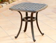 Elyse 22x22 Cast Top End Table