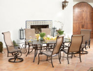 7 Pc. Table,4 Dining&2 Swivels
