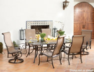 7 Pc. Table,& 6 Swivel Chairs