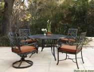 5-Pc.-Table-&-4-Swivel-Chairs