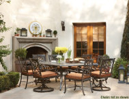 9-Pc.-Table-&-8-Swivel-Chairs