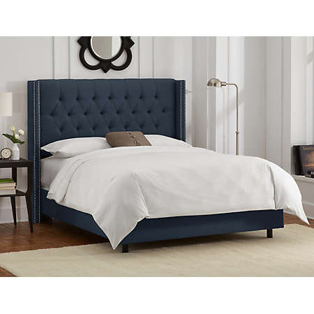 Shop Alexis Navy Bed Collection Main