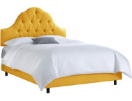 King Arched Diamond Yellow Bed