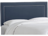 shop Twin-Lazuli-Blue-Nailhead-Bed