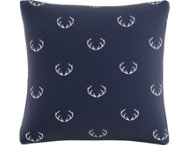 Rudolph Navy 20x20 Down Pillow