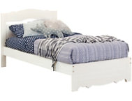 Caravell Twin White Wash Bed