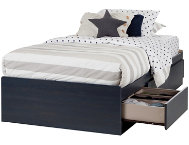 Aviron Blue Twin Mates Bed