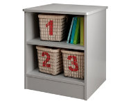 Libra Gray Storage Nightstand
