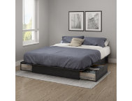 Step 1 Queen Gray Platform Bed