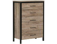Munich Oak 5-Drawer Chest