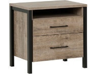 Munich Oak   Black Nightstand