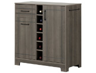 Vietti Gray Maple Bar Cabinet