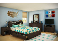 Vito Queen Chocolate Headboard