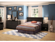 Vito Queen Black Headboard