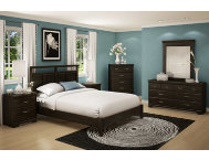 Versa Ebony Queen Headboard