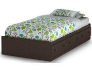 Summer Breeze Twin Brown Bed
