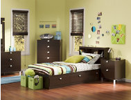 shop Spark-Chocolate-Twin-Headboard