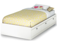 shop Spark-White-Twin-Mates-Bed