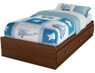 Willow Cherry Twin Mates Bed