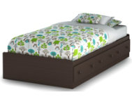 Savannah Brown Twin Mates Bed