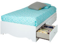 Crystal Twin White Mates Bed