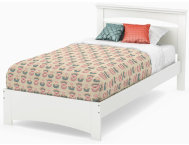 Libra White Twin Bed