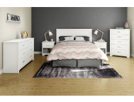 Fusion White Queen Headboard